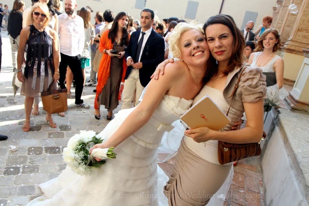 Heidi Busetti - la prima Wedding Reporter - con la sposa di Rimini